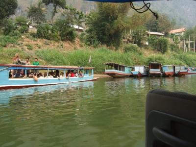 Bootsanleger in Nong Khiaw