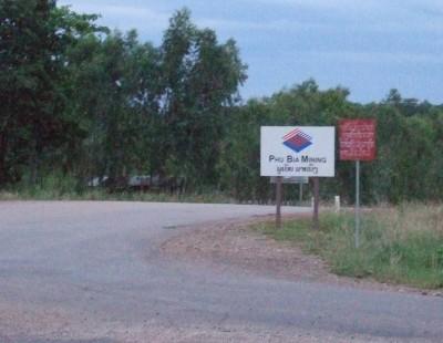 Phu Bia mining sign