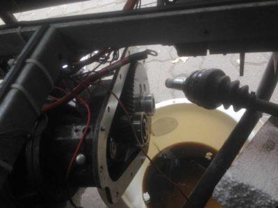 Kewet Motor mit Getriebe offen