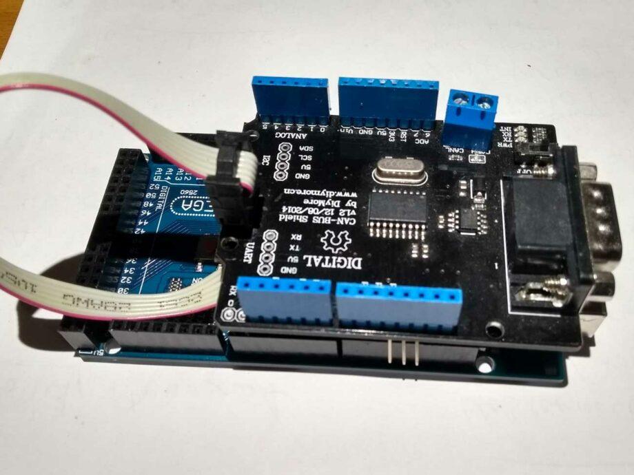 Arduino Mega mit CAN Shield