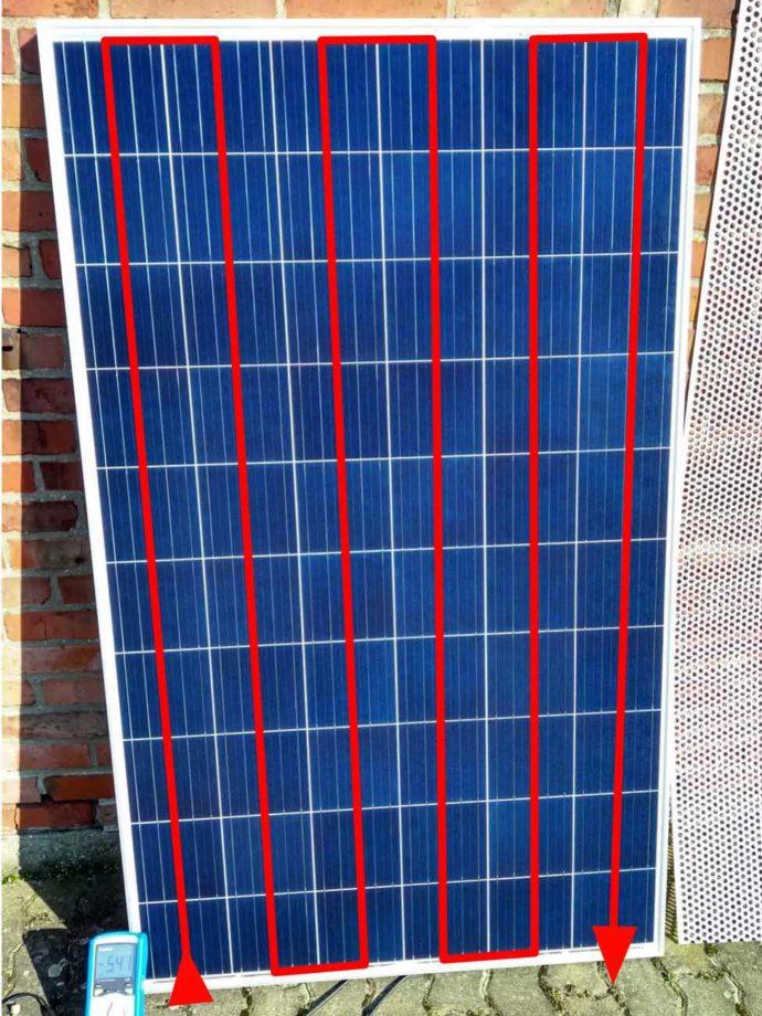 Solarpanel Stromfluss
